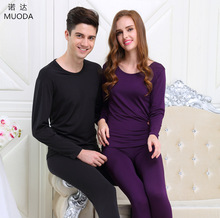 The new men and women thermal underwear sets high-slung Ms. Qiu Yi Qiuku round neck backing