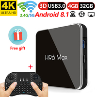 H96 Max X2 Amlogic S905X2 Octa Core 4GB Ram 32GB Rom Iptv box smart TV Box Android 8.1 TV Box