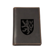 Engraved Picture Czech Republic Travel Accessories Passport Cover Custom Name Cowhide Passport wallet Travel Passport Cover(China)