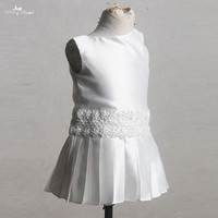 FG64 Real Pictures Yiaibridal A Line Pleated Skirt Baby Dress