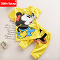 Cartoon Mickey Kids Boys Clothes 2016 New Toddler Boys Clothing Set Children Summer Fashion Clothes Spring T-shit+Pants T502