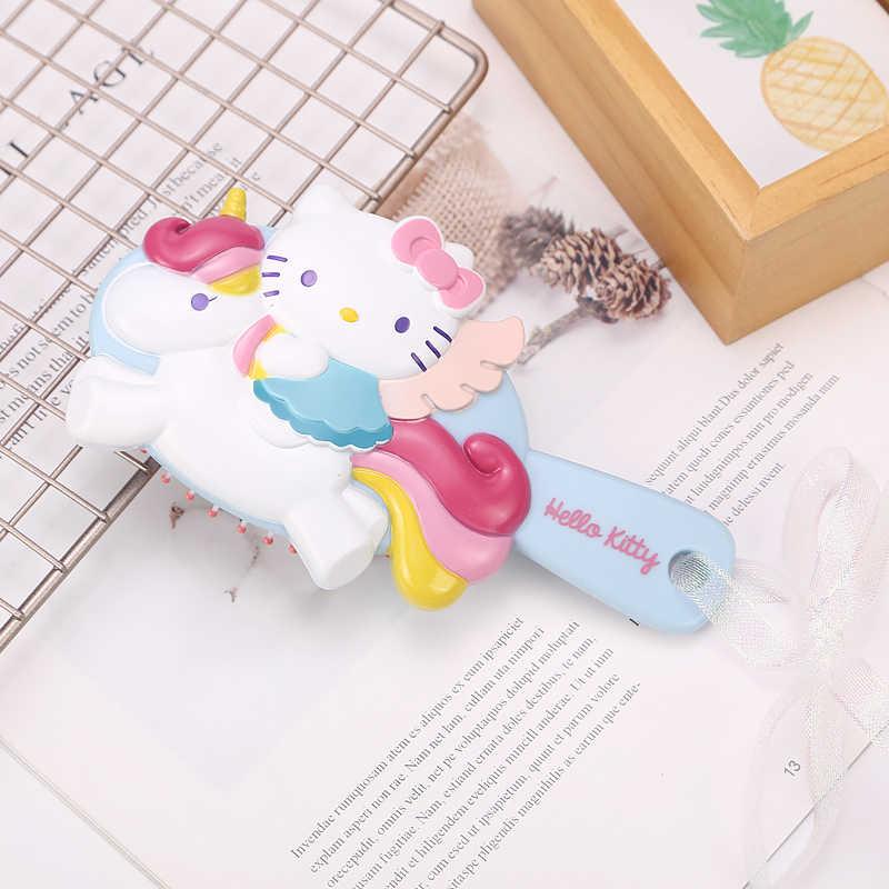 ff70cde66 Unicorn Hello Kitty Kid Hair Brush Comb Anti Static Air Cell Red Pink Portable  Hairbrush Cartoon