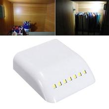 7 LED Night Lamp PIR Infrared Motion Sensor Light Kitchen Inner Hinge Drawer Cupboard Wardrobe Closet Under Cabinet Light все цены