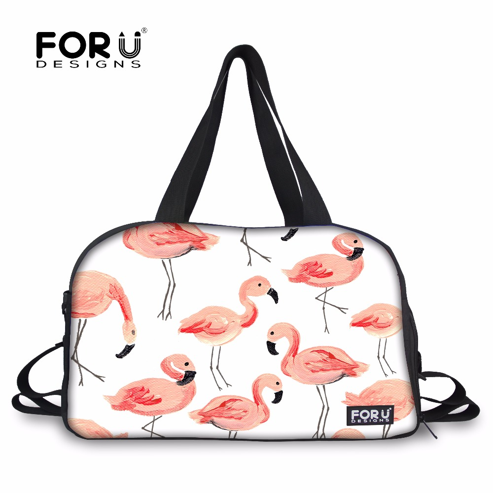 FORUDESIGNS Sports Bags for Fitness Women Yoga Mat Bag Gym Handbag Cute Flamingo Printing Team Training Bag Large Tote Outdoor ...