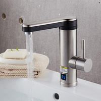 Electric Tankless Heater Faucet Instant Heater Tap Stainless Steel Faucet Bathroom Basin Taps Bathroom Electric Faucet