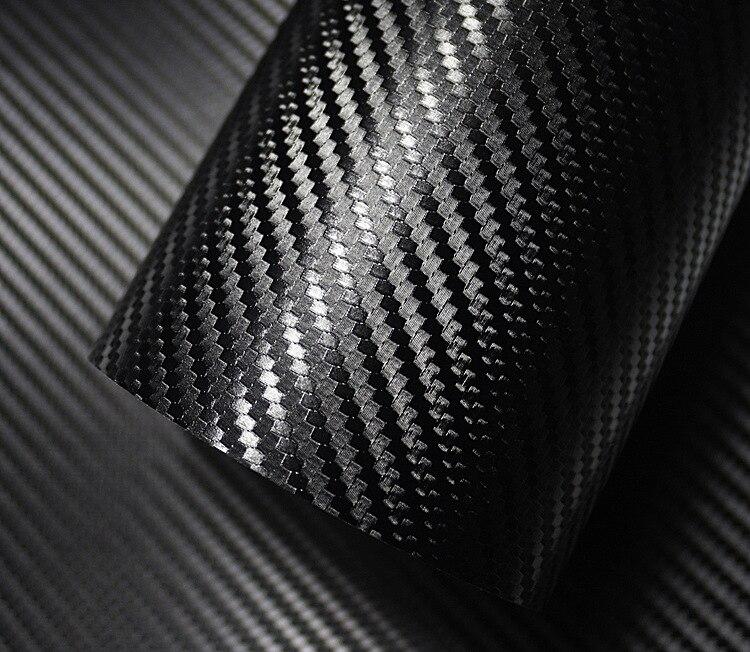 500mm x 2000mm 3D Fiber de carbone vinyle Film voiture autocollant étanche voiture style Wrap Auto véhicule détaillant accessoires moto