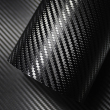 500mm x 2000mm 3D película de vinilo de fibra de carbono pegatina de coche impermeable estilo envoltura Auto vehículo detalles accesorios motocicleta