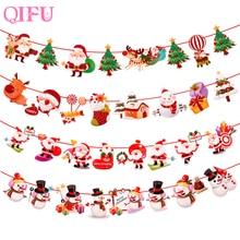 QIFU Merry Christmas Decorations For Home 2019 Navidad Xmas Tree Lights Ornaments Gifts Happy New Year 2020
