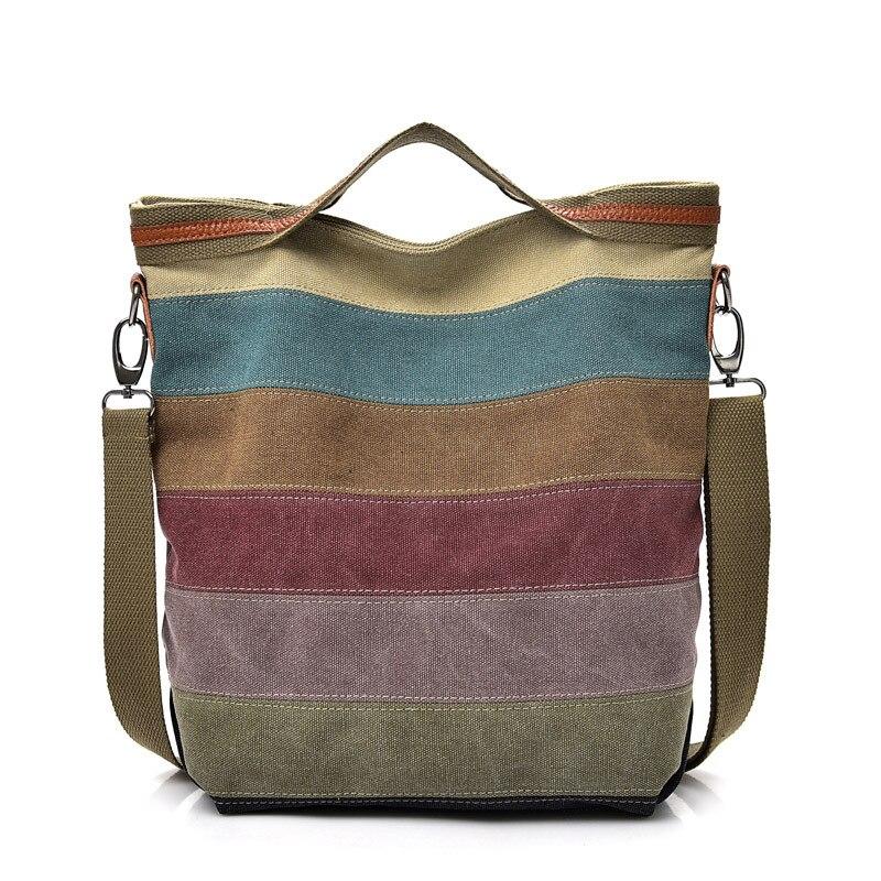 EXCELSIOR brand fashion female shoulder bag high quality patchwork split canvas handbag ladies tote bag for office work