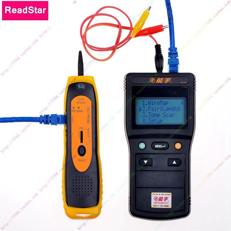 ReadStar NS-DX V1.7 Numérique D'affichage À CRISTAUX LIQUIDES De Réseau LAN Téléphone RJ45/11 Câble Toner Détecteur De Fil Ligne Toner Traceur Testeur