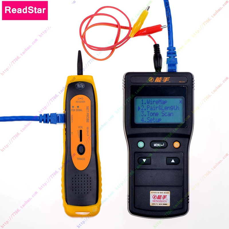 ReadStar NS-DX V1.7 Numérique LCD Affichage Réseau LAN Téléphone RJ45/11 Câble De Toner Détecteur De Fil Ligne De Toner Tracer Tester
