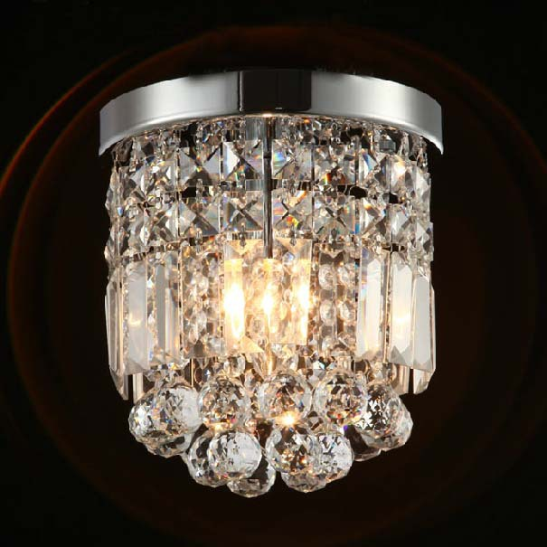 Simple Modern Fashion Round K9 Crystal Led E14 Ceiling Lights For  Corridor Aisle Living Room Entrance Dia 20/25cm 2275 купить