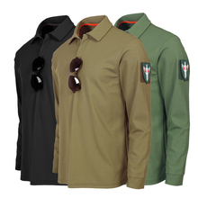Весенне-осенняя мужская рубашка с длинными рукавами и отворотом, топы, мужская рубашка для альпинизма, походов, физической подготовки, дышащая, боевая, тактическая рубашка