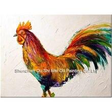 Картина маслом «петух» на холсте ручная роспись 100%