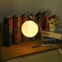 LED Table Lamp 3D Printing Moon Night Lamp Desktop Light for Bedroom Study