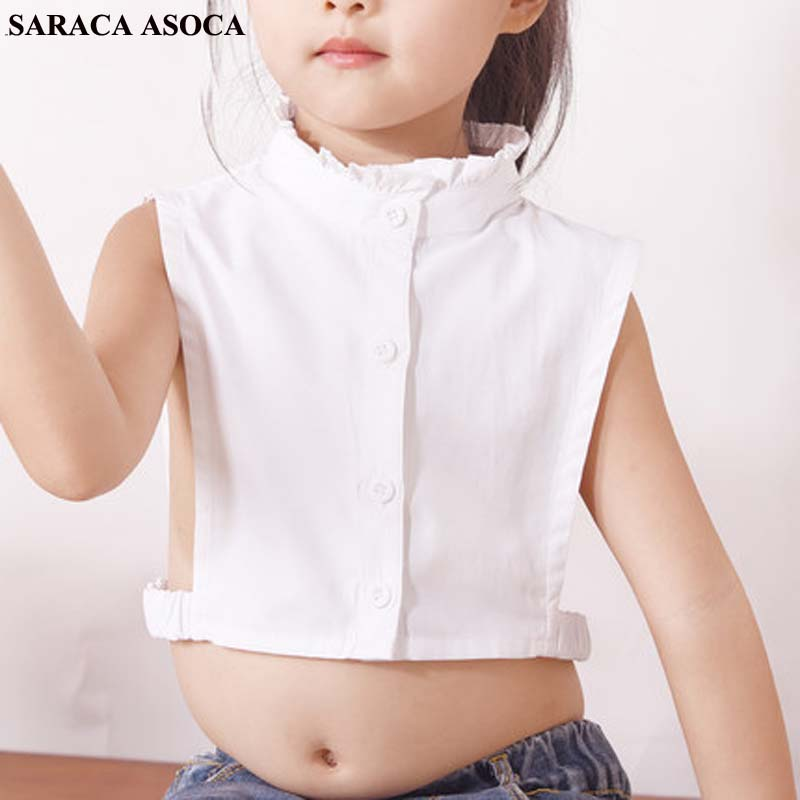 Fashion Child Detachable Collars Autumn Winter Sweater Shirt Fake Collar Girls