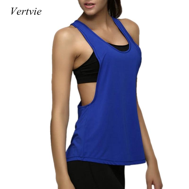 Vertvie 2018 Yoga Crop Top Women Sleeveless Backless