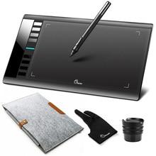Parblo A610 ดิจิตอลแท็บเล็ตพร้อมปากกา Grafico 5080LPI + ผ้าขนสัตว์ถุงมือเช่นของขวัญ