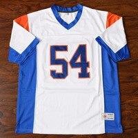 MM MASMIG Thad Burg #54 Blue Mountain State Fußball Jersey Genäht Weiß S M L XL XXL XXXL 4XL