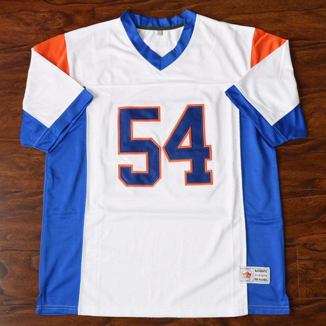 2a4957ae7c6 MM MASMIG Thad Castle  54 Blue Mountain State Football Jersey Stitched White  S M L XL XXL
