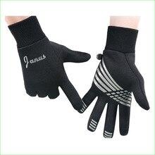 Ветрозащитный теплой проточной перчатки унисекс полный палец перчатки Сенсорный экран для езды на открытом воздухе Футбол Обучение