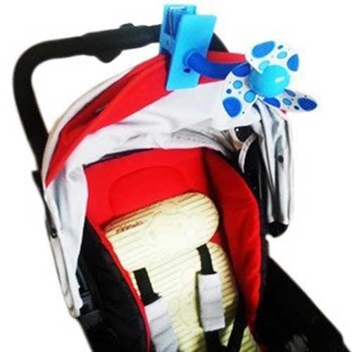 ปลอดภัยใบมีดนุ่มแบบพกพาบน Mini พัดลมสำหรับรถเข็นเด็กทารก Cot