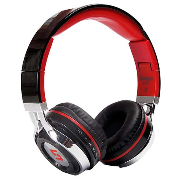 Wireless Bluetooth Foldable Headset Stereo Headphone Earphone for iPhone Samsung - Red mini wireless bluetooth 4 0 stereo headset earphone headphone for iphone for samsung