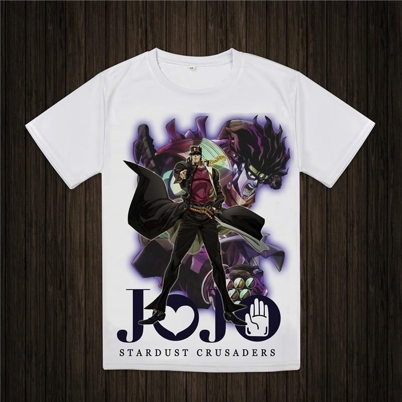 جوجو مغامرة غريبة تي شيرت تصميم مانغا أنيمي t-shirt بارد الجدة مضحك الزى نمط الرجال النساء المطبوعة الأزياء المحملة