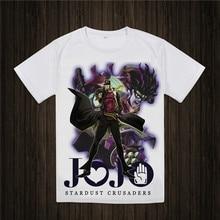 JoJo Bizarre Adventure T Shirt Design Manga Anime T-shirt Cool Novelty Funny Tshirt Style Men Women Printed Fashion Tee