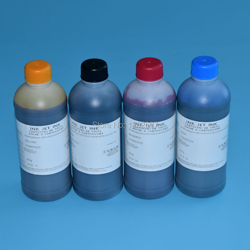 ФОТО Dye ink for hp 980 ink for hp x555 x585 bulk printer ink for hp 4color 500ml large capacity cheap price