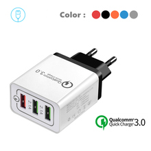 3USB Quick charge 3.0 Fast Wall Charger for iPhone SE X Xs Max Xr 8 7 iPad Samsung S9 Xiaomi mi9 Huawei Mobile Phone