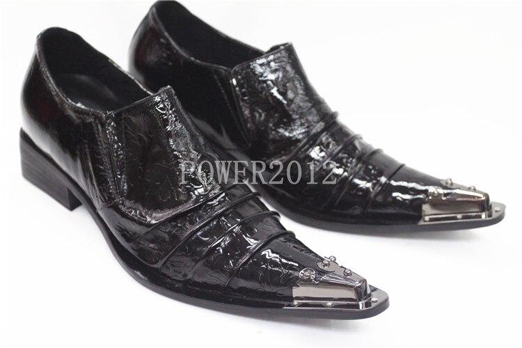 Dedo Novo Com De Sapatos 46 Estilo Metal Homem Pontas Homem Personalidade Preto 2016 Couro Rock O Pé Batzuzhi Eu38 Para Vintage Do 7t6ExqwZ5