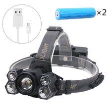 7-LED Headlight Super Bright Headlamp Outdoor Zoom Flashlight Waterproof Head Torch