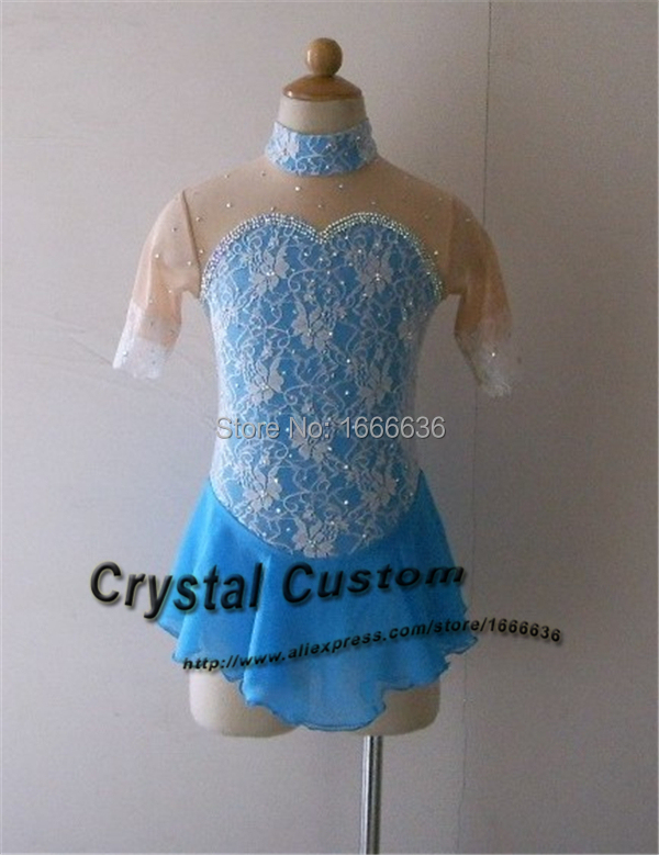 Hot Sales Blue Figure Skating Dress Hot New Brand Ice Skating Dress For Competition Customized DR3147
