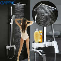 GAPPO shower faucet set bathtub faucet mixer tap waterfall wall shower head chrome Bathroom Shower set bathtub taps shower mixer