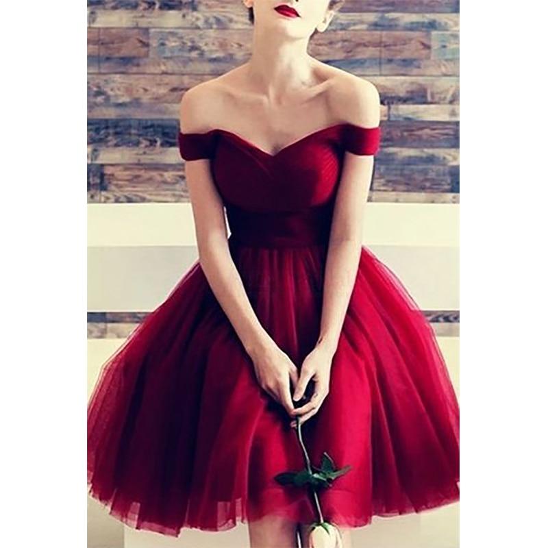 Verngo Simple Red Tull   Prom     Dresses   Short Ball Gown   Prom     Dress   Lace Up Back   Dress     Prom   Gala Jurken Vestidos De Fiesta De Noche