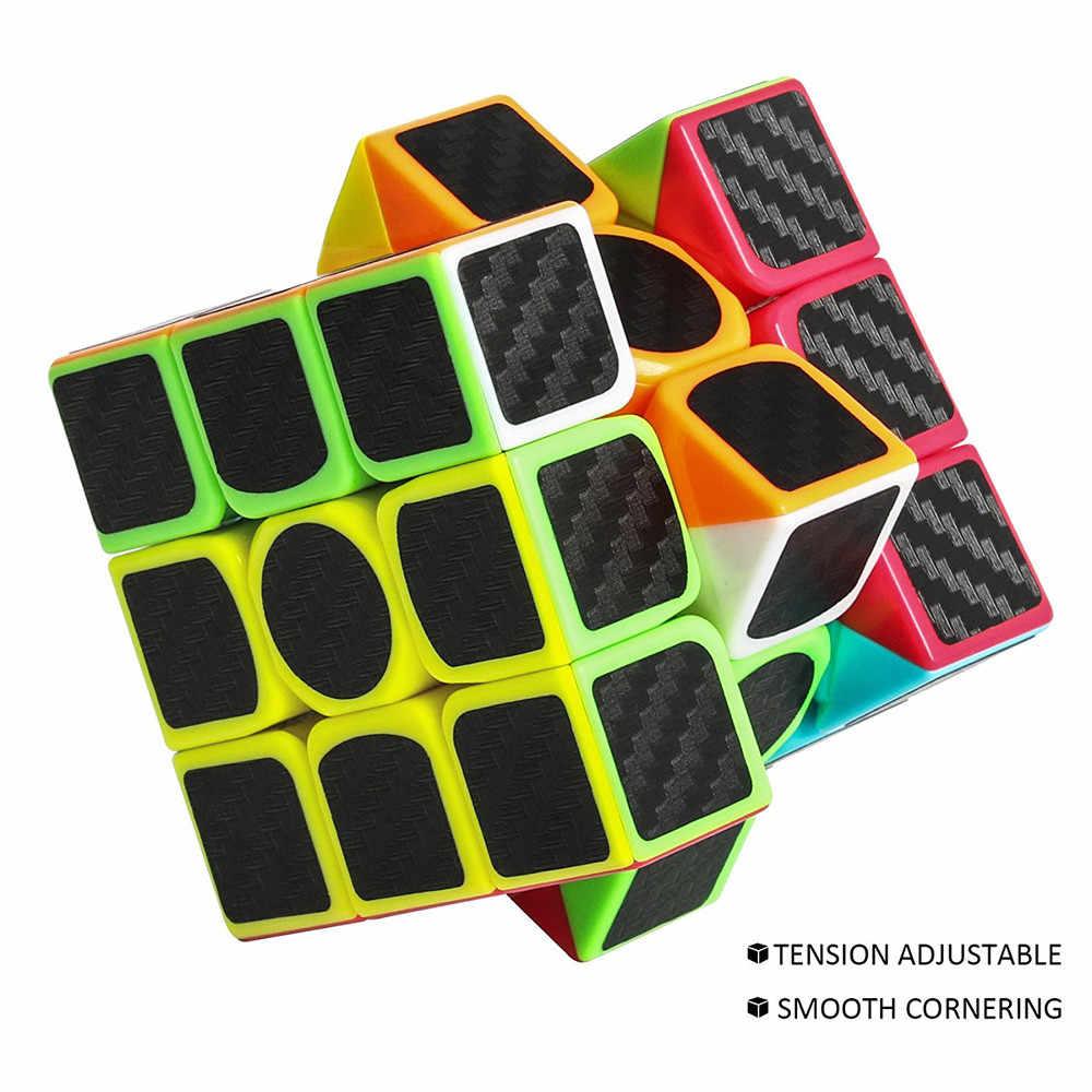 3x3x3 скоростной куб наклейка из углеродного волокна для гладкой Волшебная кубическая мозаика Горячая продажа 18mar08