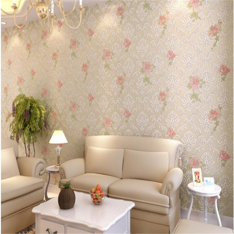 beibehang papel de parede relief european-style non woven sitting room bedroom rural warmth 3d wallpaper wall paper papier peint peaks run 105