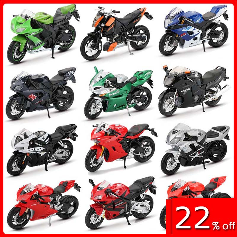 Maisto 1:18 Alloy Motorcycle Model Toy Off Road Motorbike Racing Car Models Africa Twin H2R 690 Duke Motorcycles Toys For Kids