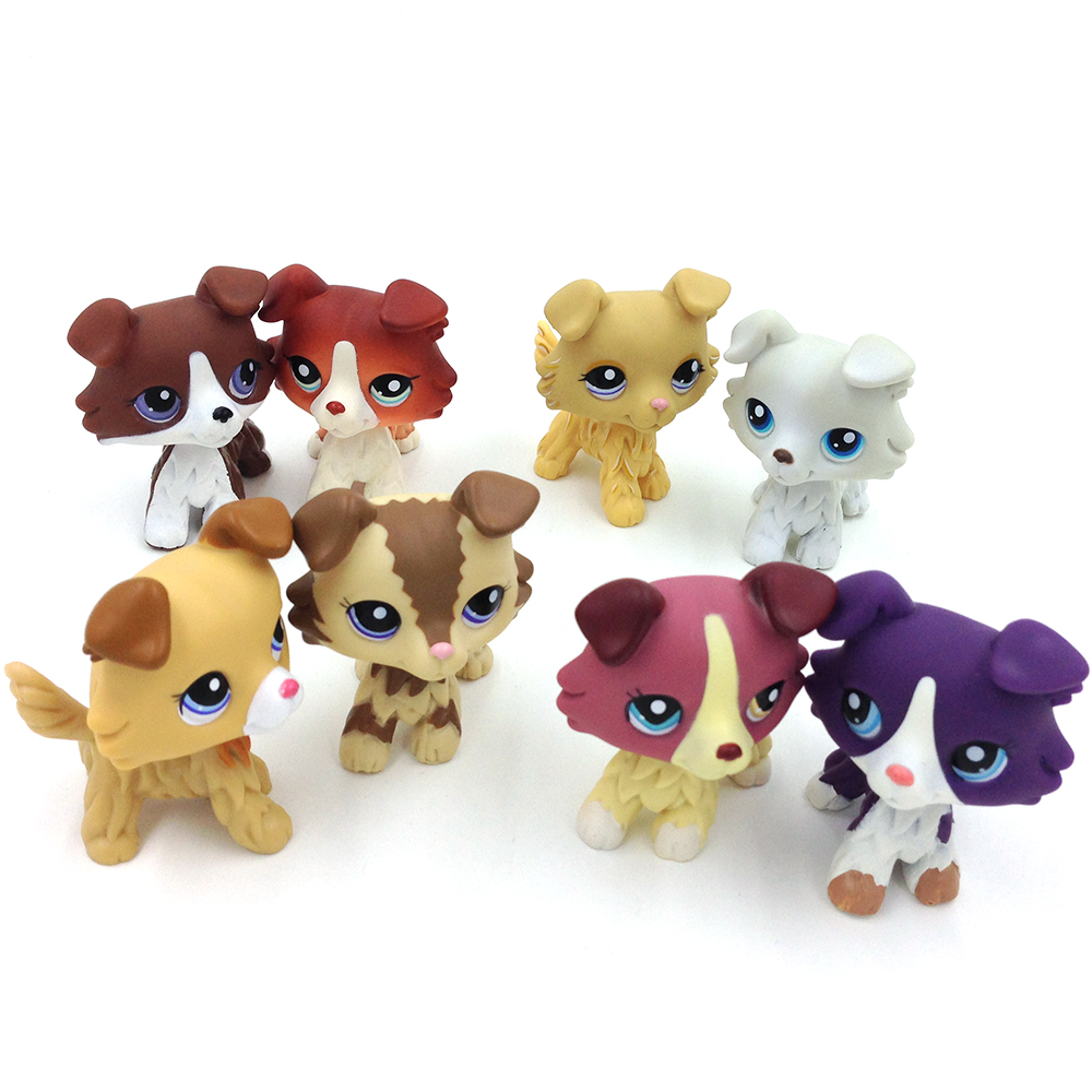 LPS Pet shop Rare LPS toys Collie Dog Action Figure 8 Styles Great Gift for Kids Child Girls цена