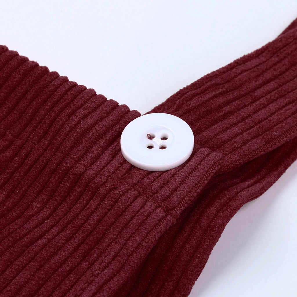 df7b622551 ... Women Dress Corduroy Straight Suspender Mini Bib Overall Pinafore  Casual solid Pocket Dress 2019 NEW arrival ...