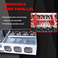 Professional Mine Mining Machine Chassis 8 Graphics Server Chassis with 7 Fans Mining Case Frame Single Power Supply