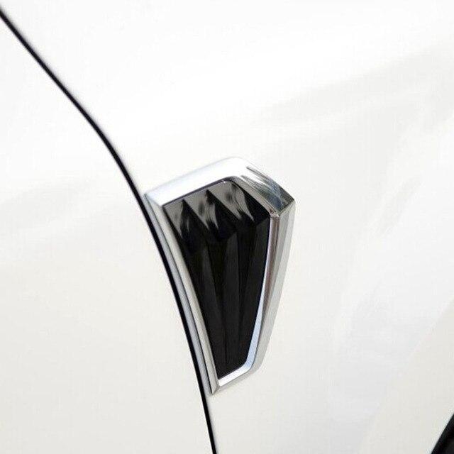 1Pair Black and Chrome ABS Blade Triangle Fender Emblem Car Styling Refitting Sticker for Skoda Yeti Left & Right Free Shippi