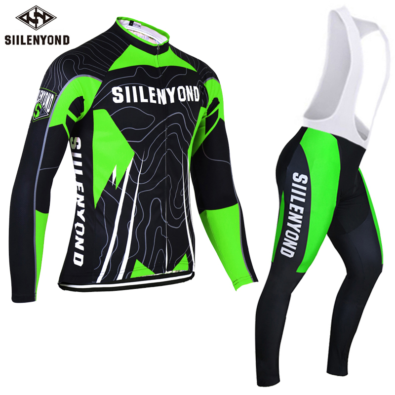 ФОТО Siilenyond 2017 Winter Thermal Fleece Cycling Jerseys Set MTB Bike Clothing Bicycle Clothes Maillot Ropa Ciclismo Invierno