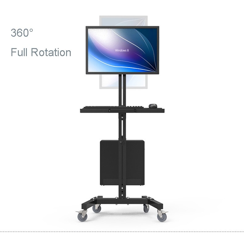 Moving Sit-Stand Desk Workstation TV Mount PS Stand Medical Equipment Trolley Computer Host Keyboard Holder Bracket W833 ...
