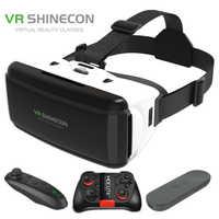 Vr shinecon g06 capacete óculos de realidade virtual 3d para o iphone android smartphone smartphones óculos android