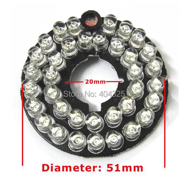 36 LEDs 5mm Infrared IR 60 Degrees Bulbs Board 850nm Illuminator For CCTV Camera 36 5