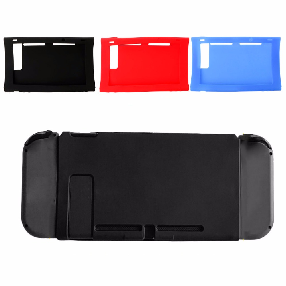 2019 1 PC Soft Silicone Protector Case Non-Slip Skin Cover For Nintendo Switch Host