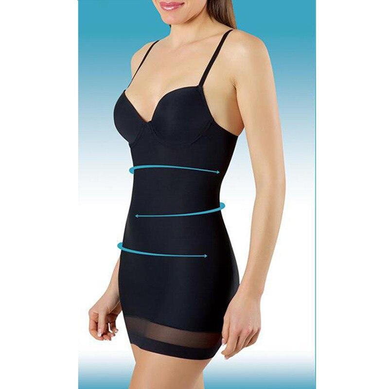 Zysk Frauen Wear Abnehmen Unterwäsche Control Slips Sexy Push-up Kleid Full Body Shaper Spaghetti Strap Taille Trainer Dessous Gesundheit Effektiv StäRken