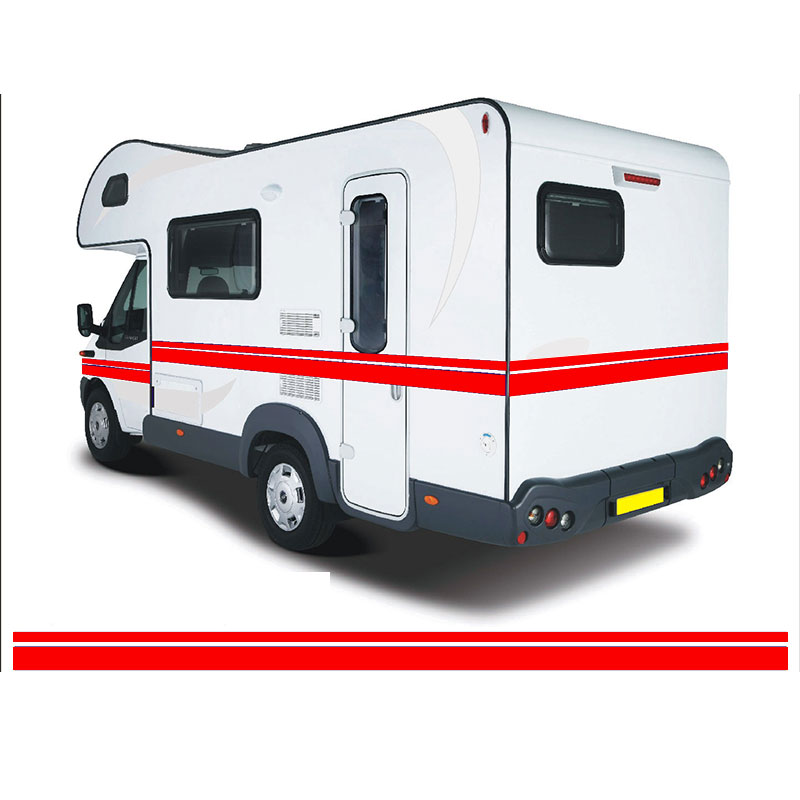 10m <font><b>MOTORHOME</b></font> VINYL STRIPES GRAPHICS <font><b>STICKERS</b></font> <font><b>DECALS</b></font> CAMPER VAN CARAVAN HORSEBOX da4-0036 image
